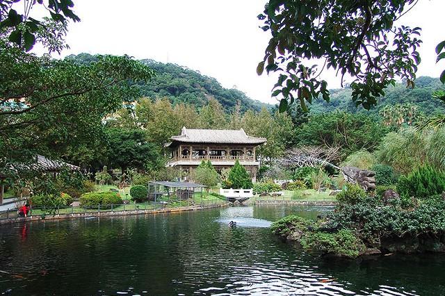 Landscape of Zhishan Garden in National Palace Museum, Taipei, Taiwan