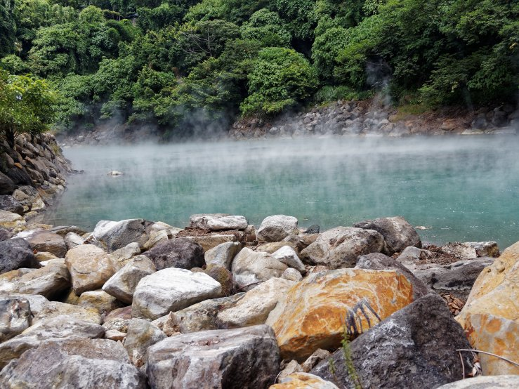 Visible steam at Beitou Hot Spring