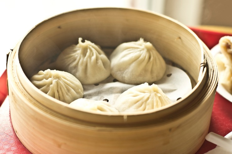 Xiao Long Bao or Soup Dumplings in a steam cookware