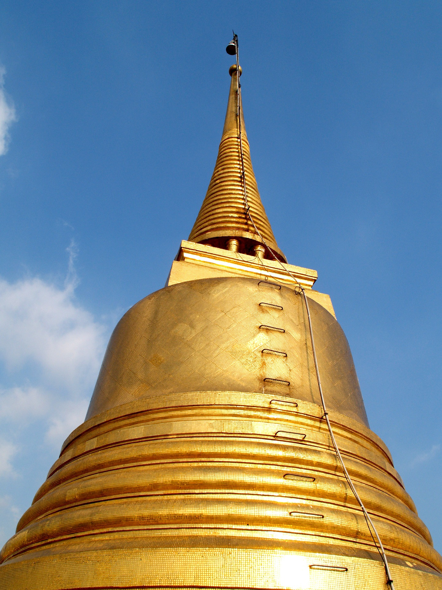 The top of Wat Saket, located at the top of the Golden Mountain