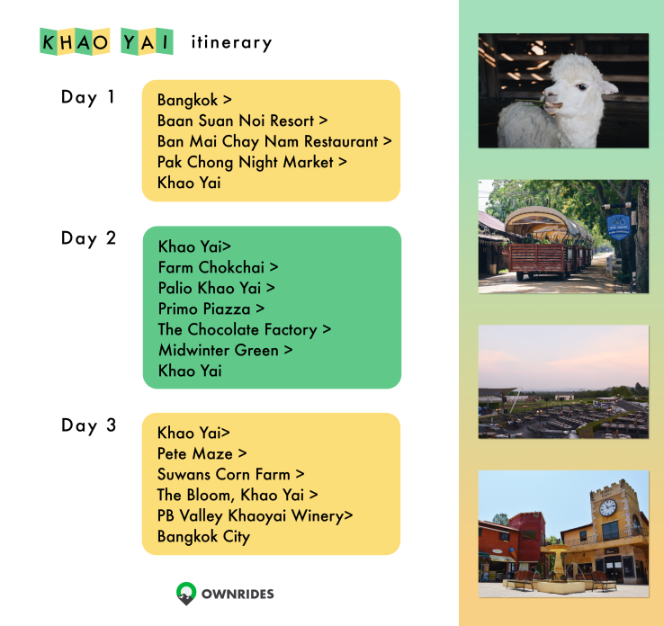 3 day 2 night (3D2N) itinerary in Khao Yai