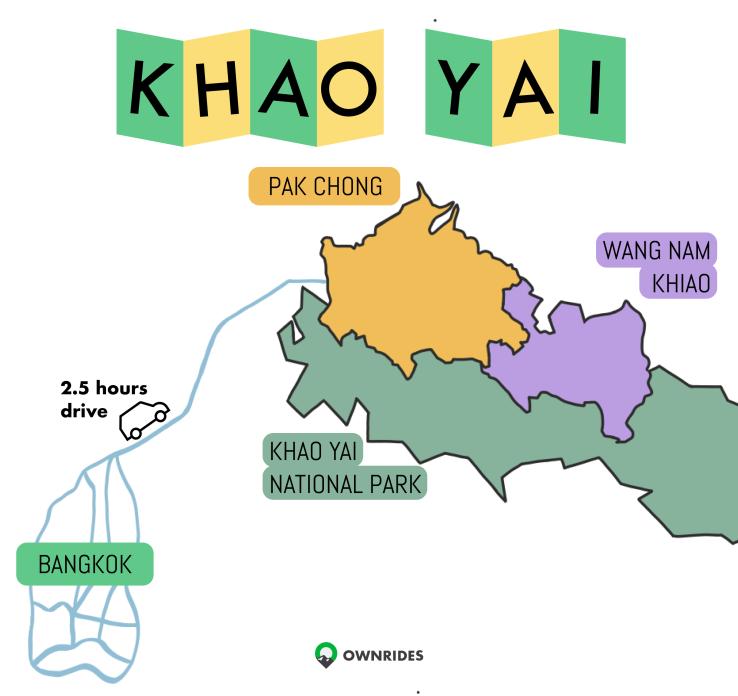 The 2.5 hour journey from Bangkok to Khao Yai